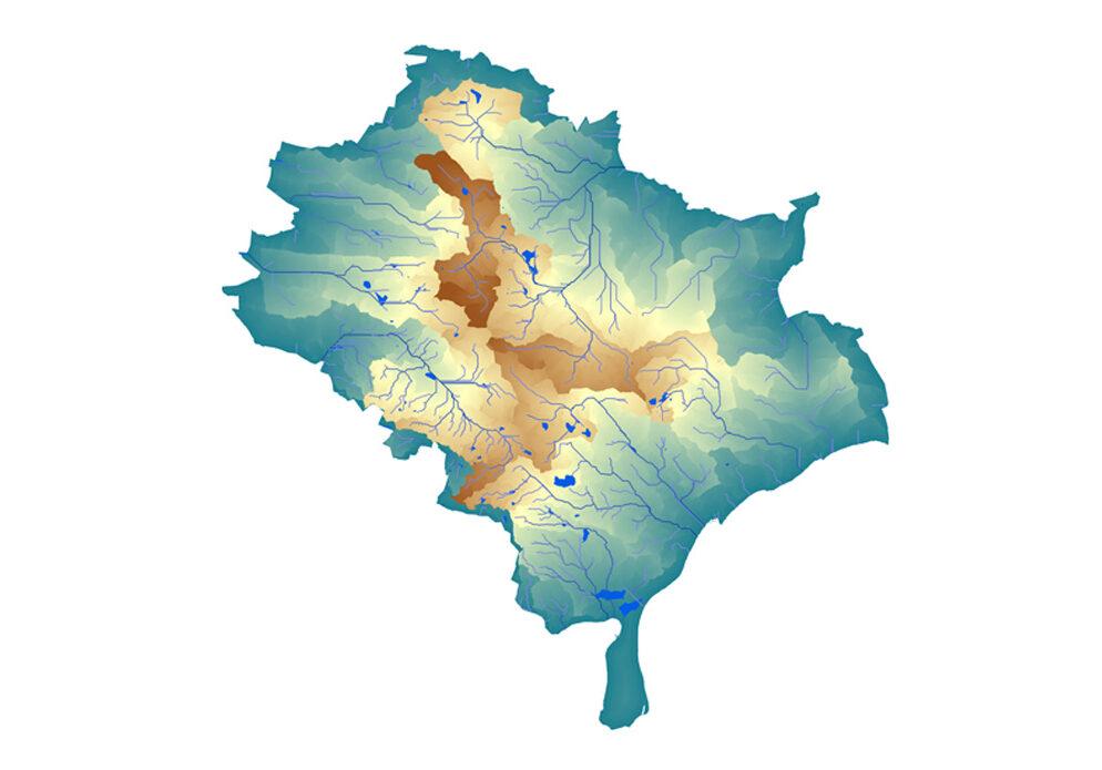 watershed flow length gis analysis