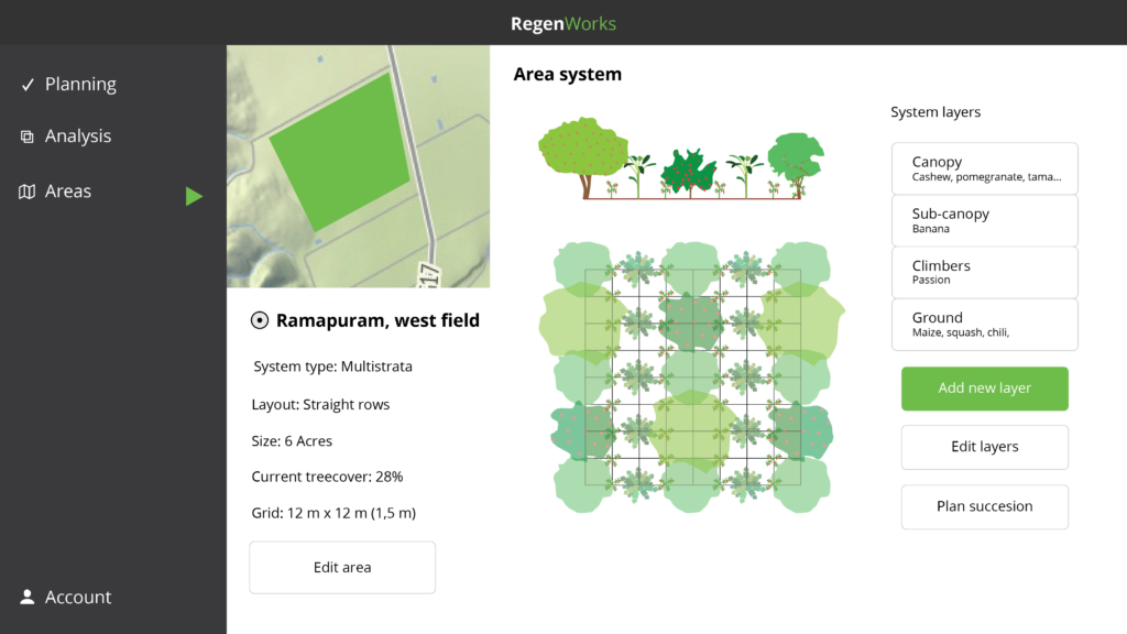 Agroforestry system design software for farmers